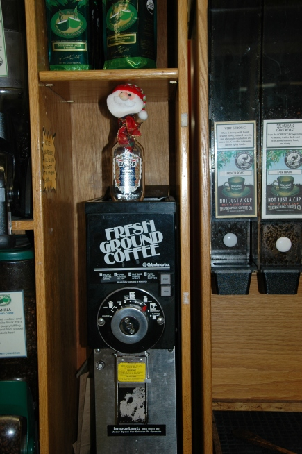 Look! The Purity has coffee beans you can grind yourself!