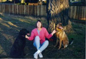 Dr. Hamlin took this photo of the dogs & me.